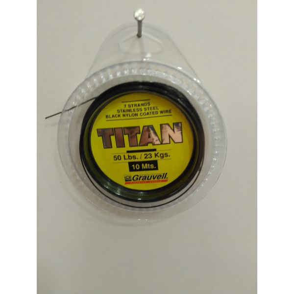 CABLE ACERO 10MT TITAN 50 LB