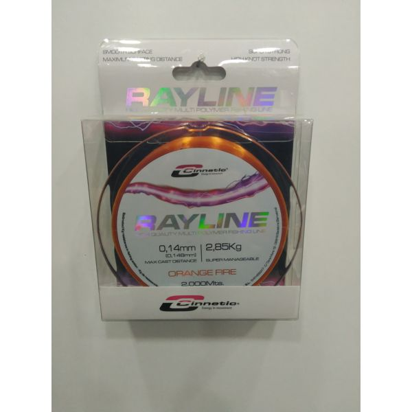 HILO CINNETIC RAYLINE 2000M 0.16 ORANGE FIRE