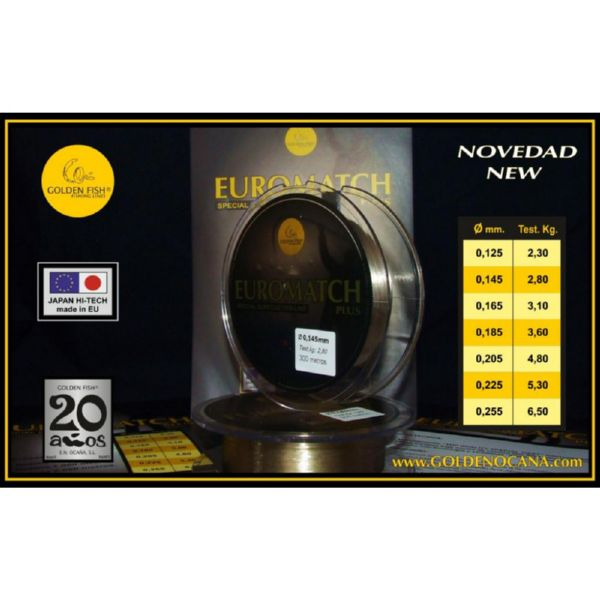 HILO EUROMATCH PLUS 0.165 1000MTS