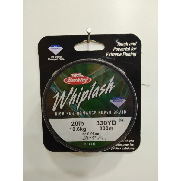 WHIPLASH 300M 0.06MM GREEN